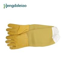 Высокое качество желтый Пчеловодство защиты перчатки для пчеловода № 11