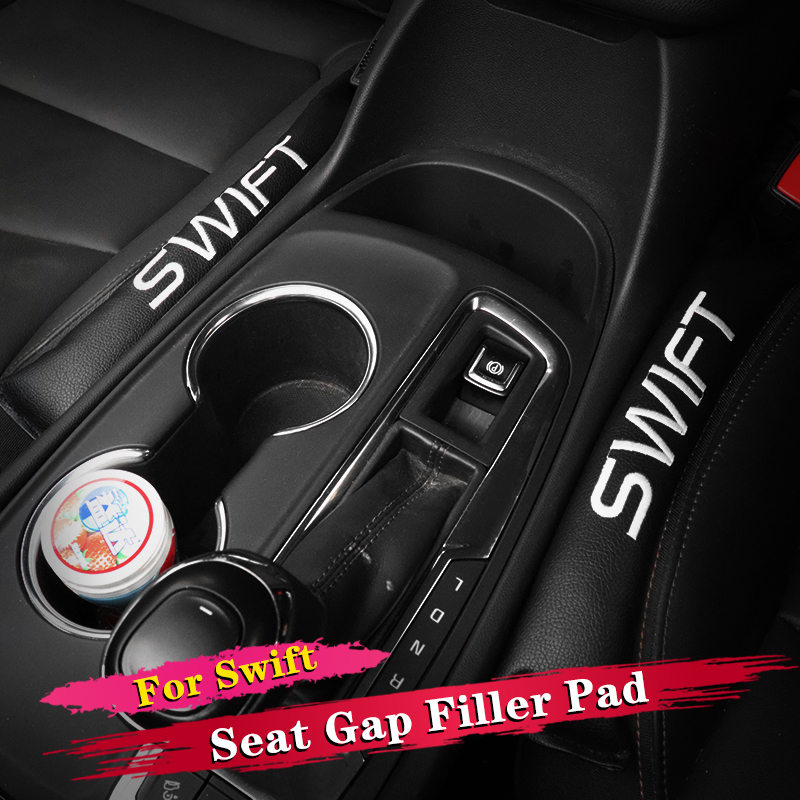 2Pcs Car <font><b>Accessories</b></font> Styling For <font><b>Suzuki</b></font> <font><b>Swift</b></font> 2012 2013 2014 2015 2016 2017 <font><b>2018</b></font> 2019 Seat Gap Filler Soft Pad Padding Spacer image
