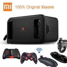 100% Оригинальный Xiaomi VR виртуальной реальности 3D очки коробка погружения картона Mi vr для 4,7-5,7 дюймовый смартфон с контроллером