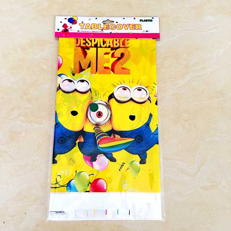 Detail Feedback Questions About 1pc Funny Minions Despicable Me Party Disposable Tablecloth Children Birthday Decor Cartoon Minion Waterproof Dining Table