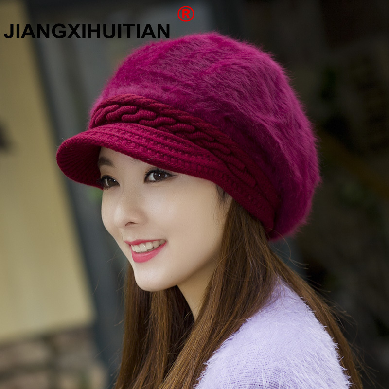 2018 Hot Mink and Fox fur ball cap winter hat women hat girl knitted hats   skullies     beanies   brand new thick female cap