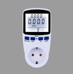 EU/US/AU/UK Digital Energy Meter Wattmeter with Backlight Electronic Power Meter Record Volt Voltage Outlet Socket Analyzer