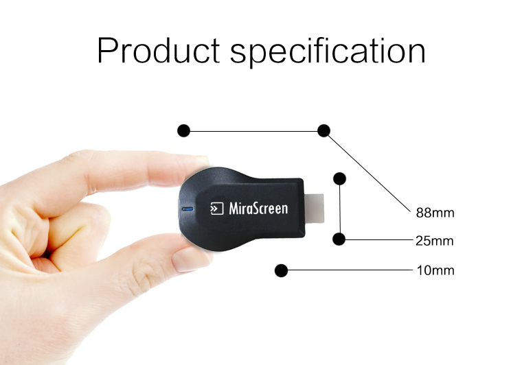 Details about Hot MiraScreen Miracast Wifi Display Dongle Receiver 1080P  For Samsung LG phone