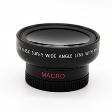 46mm UV 37mm 0.45x Wide Angle Macro Conversion Lens 0.45x 37 mm Wide-Angle Lens for Canon Nikon And Macro Mobile Lens(China)