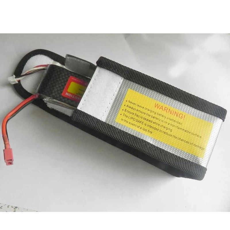 Bolsa de batería Lipo bolsa de protección de seguridad Protector de carga ignífugo a prueba de explosión 64*50*150mm/64*50 * 95mm para cuadricóptero helico