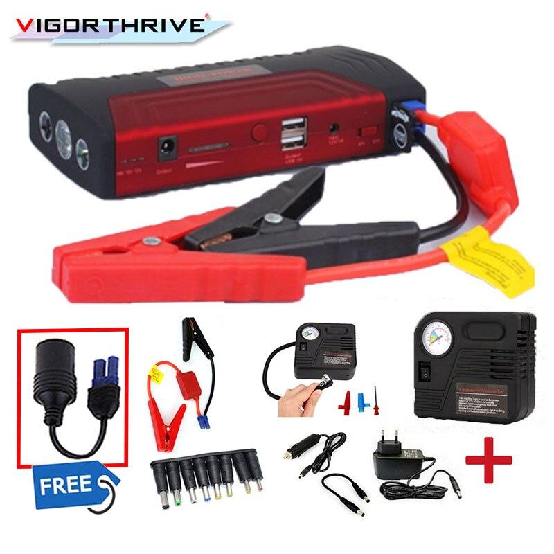 Pour voiture batterie Booster essence Diesel avec trois lumières chargeur Portable Auto batterie externe 600A 12 V voiture saut démarreur multifonction