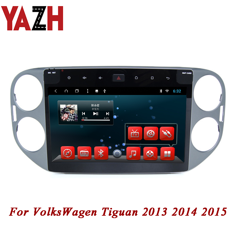 YAZH 2 din 10.1 pouces TFT LCD IPS affichage pour VolksWagen Tiguan 2013 2014 2015 Android voiture stéréo 1080*600 Auto GPS Navigation