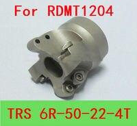 Corte liso indexável da trituração do cortador da extremidade da cara do fazer compras TRS-6R-50-22-4 t  cortador de trituração do cnc