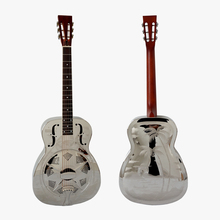 Style O Chrome Plated Hawaii Tree Blues Slide left-hand Resonator Guitar with free case