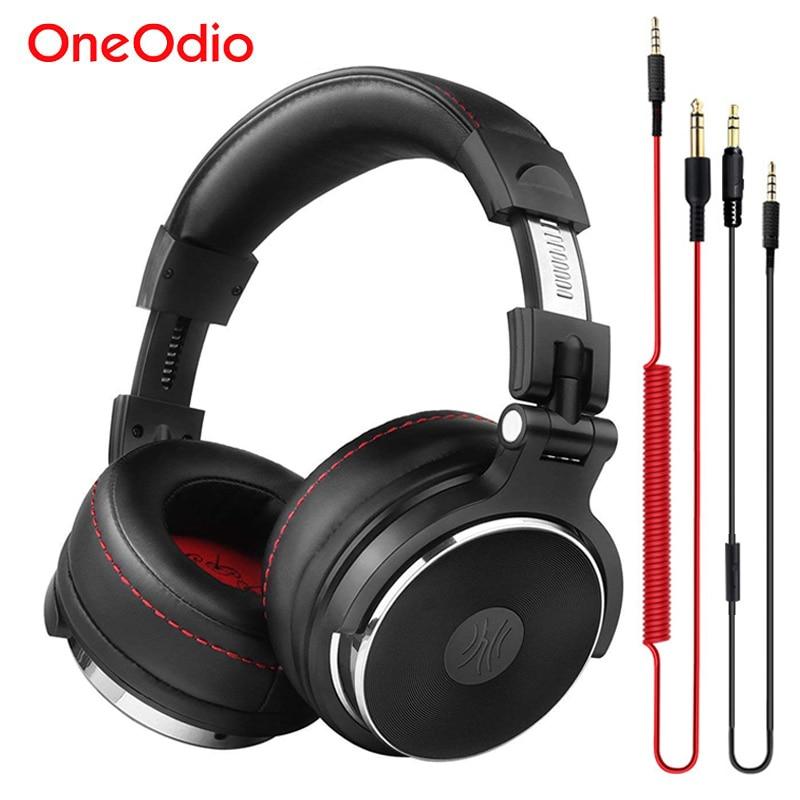 Oneodio Estúdio DJ Fone De Ouvido Para Computador PC Sobre Ear Stereo Monitor de DJ Fones De Ouvido Com Microfone fone de Ouvido Para Xiaomi Telefone Música