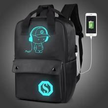 Большой Ёмкость 15.6 дюймов Сумка для ноутбука человек usb Дизайн рюкзак черный рюкзак женские Школьные сумки Mochila Masculina