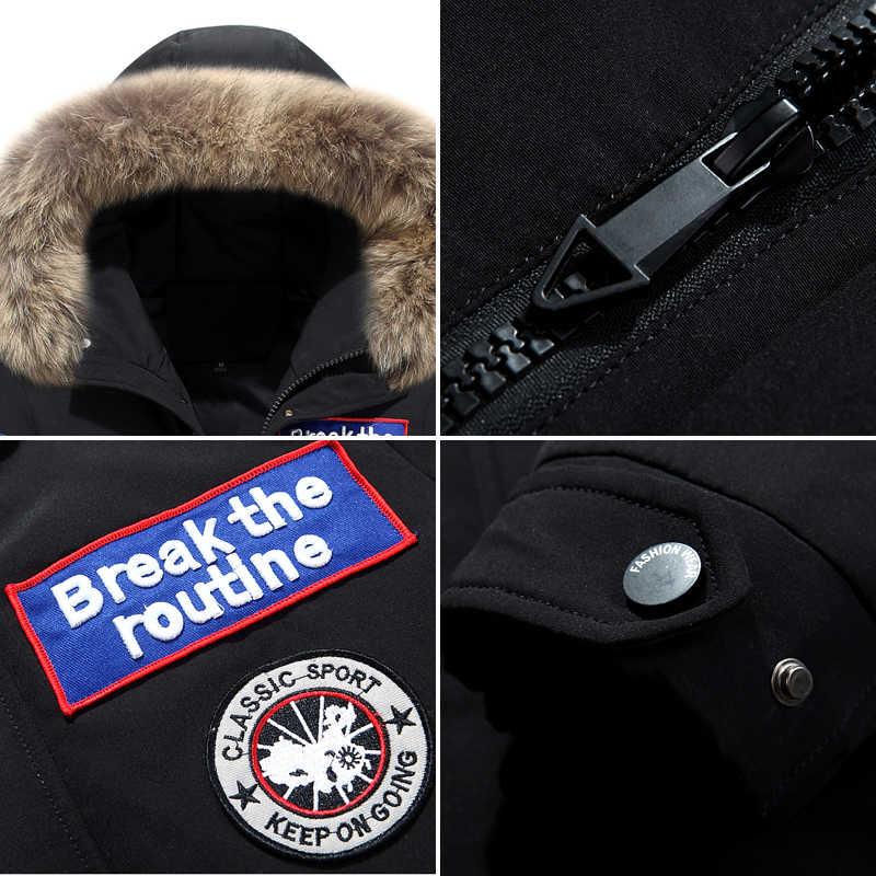 Chaqueta de plumón de lujo para hombre, chaqueta de invierno para hombre, abrigo de invierno para hombre, chaquetas casuales para hombre