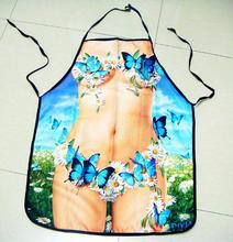 ФОТО freeshipping  new beauty printed funny apron sexy kitchen cooking home bbq apron party gift