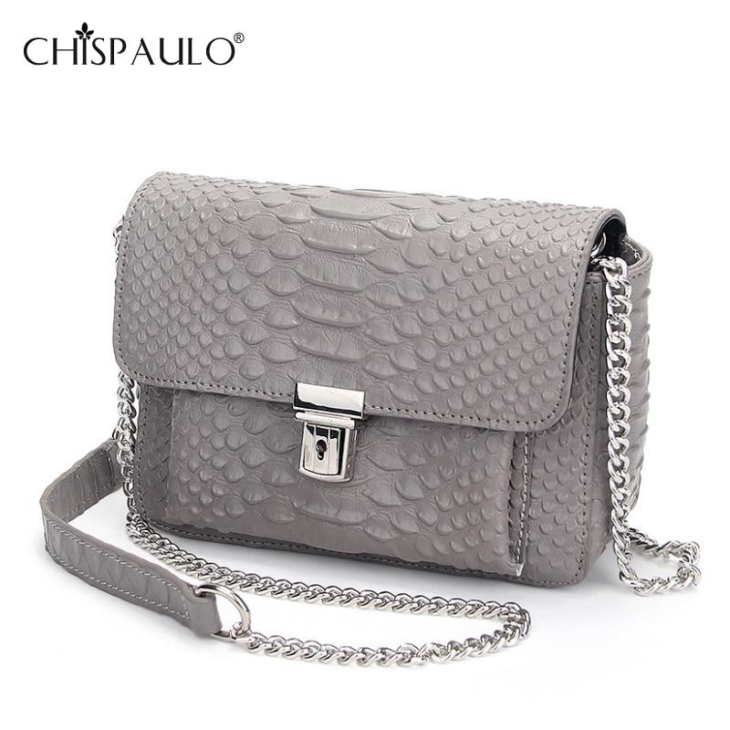 ФОТО New Genuine Leather Messenger Bags Women Famous Brands Serpentine Pattern Leather Shoulder Bags Designer Flap Bag bolsa feminina