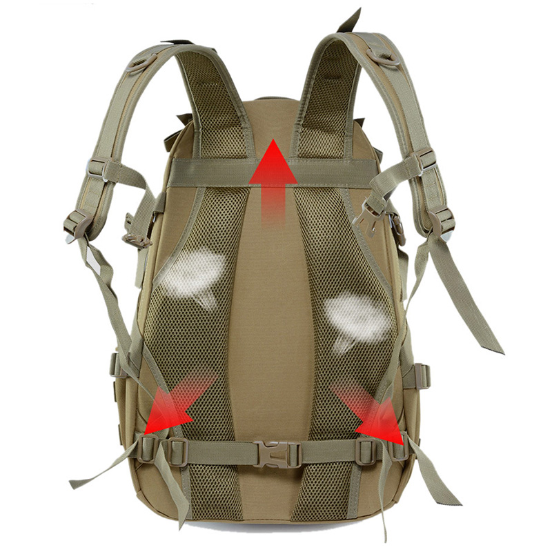 Camping Backpack Military-Bag 40L Climbing Rucksack Molle Army Hiking Tactical Outdoor