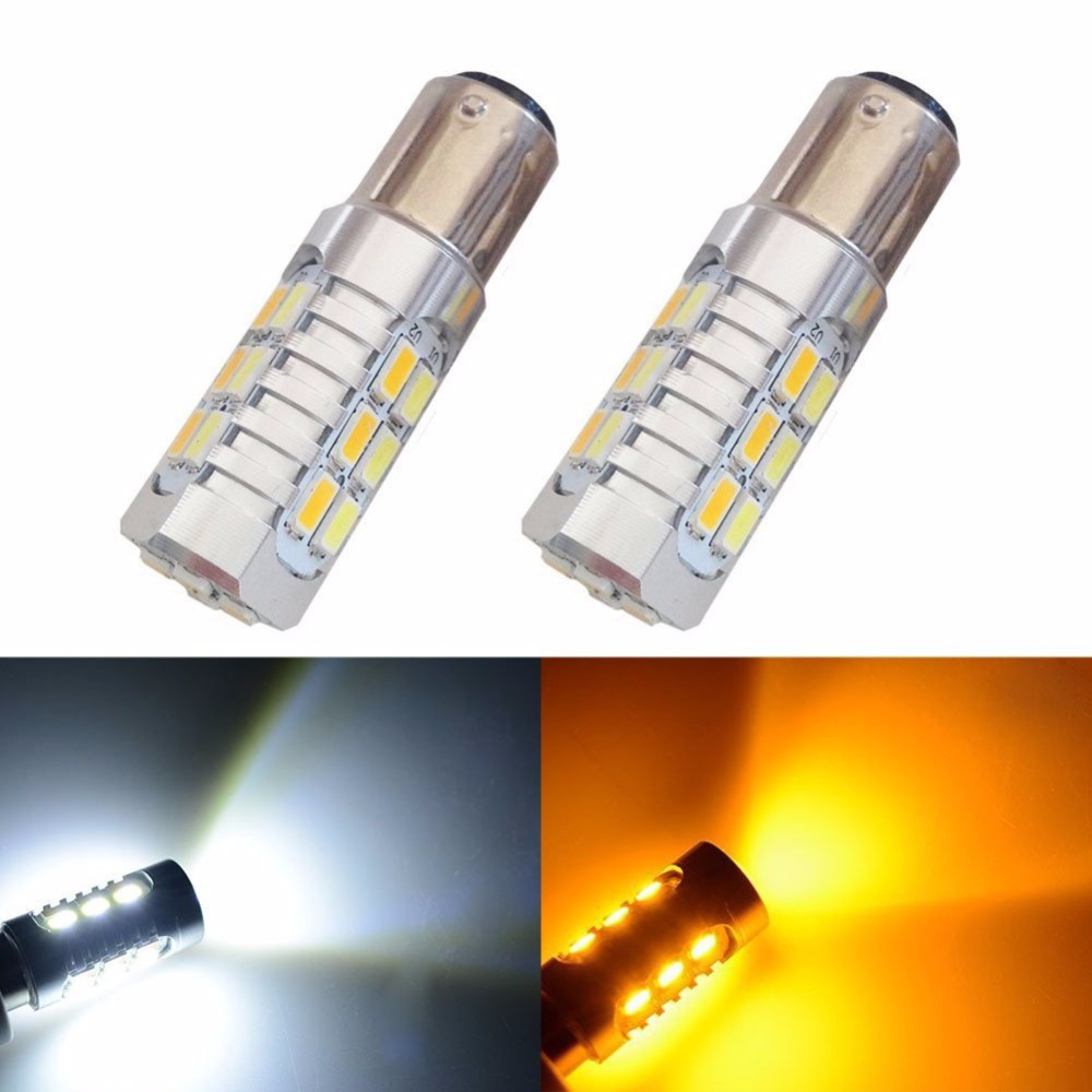 High Power 1157 1142 1004 1034 Dual Color 5730 22SMD Amber White LED  Switchback Front Turn Signal Light Bulbs 2 pack-in Signal Lamp from  Automobiles ...