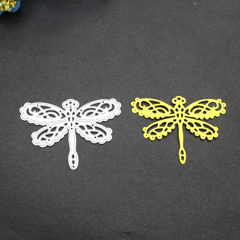 Metal Cutting Knife-Mold Dies Paper-Cards Scrapbooking Clear-Stamp Dragonfly