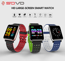 SOVOGU B02 New SmartBand Big Screen Blood Pressure Heart Rate Smart Bracelet Sports Pulse Meter Swimming Wristband Waterproof