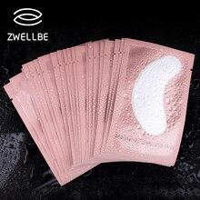 50 пар/упак. розовые женские накладки под глаза патчи для наращивания ресниц бумажные наклейки для ресниц патчи инструменты для нанесения макияжа