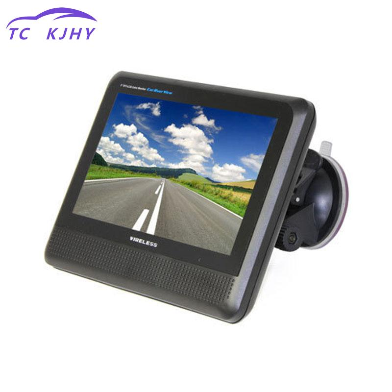 2018 Waterproof 15 Ir Night Vision Parking Reversing Camera With Wireless 2.4ghz 7 Inch Lcd Car Monitor Rear View System Display