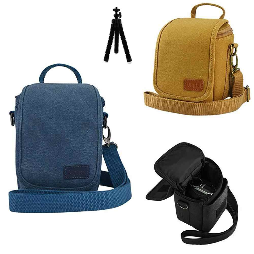 canvas DSLR SLR Camera case Bag for Canon EOS M100 M10 M50 EOS M5 M6 (15-45mm) SX430 SX420 SX540 SX530 SX520
