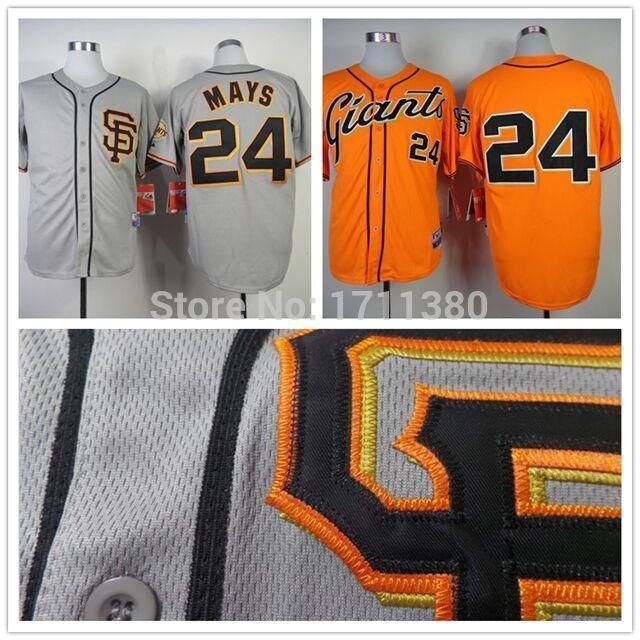 24 Willie Mays jersey Stitched San Francisco Giants jersey cheap authentic sport baseball jerseys custom shirt cream gray blue