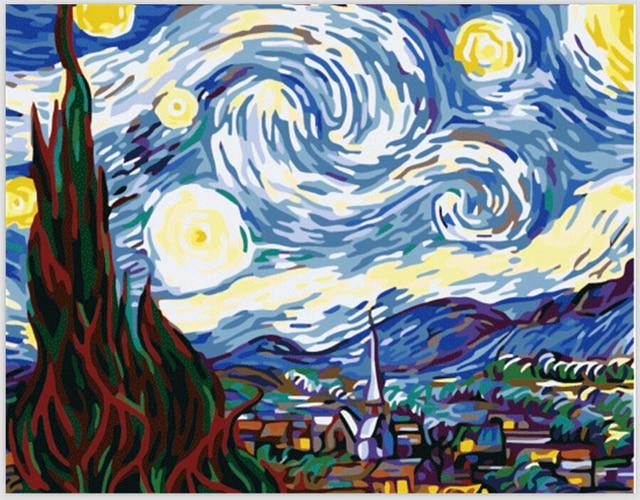 Van Gogh famosi quadri astratti Notte Stellata Pittura By Numbers ...
