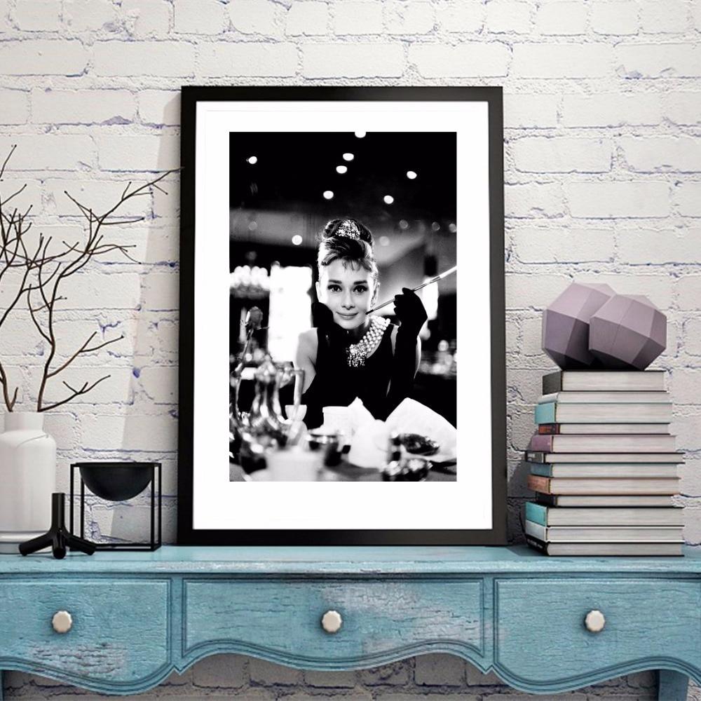 Audrey Hepburn Vintage Canvas Art Print Painting Poster Wall ...