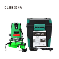 CLUBION Laser Level 3 Lines 2v 1h 3 Points Red Line 360degree Self Leveling Cross Level