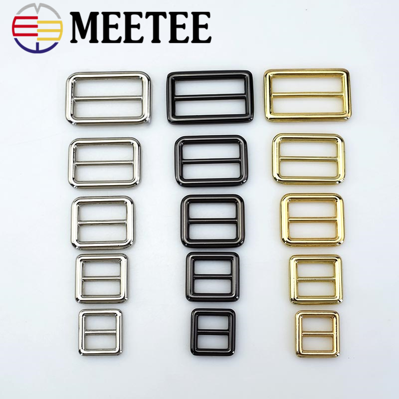 Loyal 4pc Meetee 16/20/26/32/38mm Tri-glide Slider Adjust Metal Buckle Ring For Backpack Webbing Strap Diy Bag Accessory Leather Craft Online Shop Buckles & Hooks Apparel Sewing & Fabric