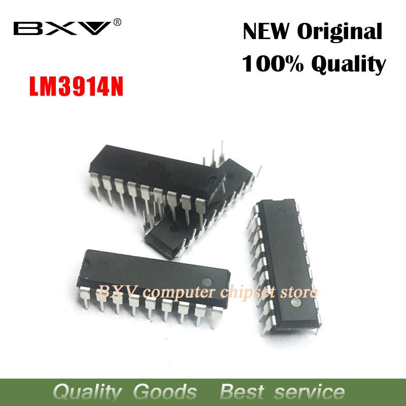 5 PCS LM3914 DIP18 DIP LM3914N-1 DIP-18 LM3914N Free Shipping