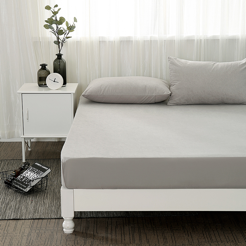 Cotton Fitted Sheet Waterproof Mattress Cover Twin Full Queen Size