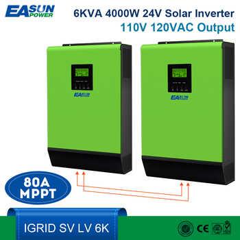 EASUN POWER 110V Grid Tie Solar Inverter 6KVA 24V Inverter 4000W MPPT Inverters Pure Sine Wave Hybrid Inverter 40A AC Charger - DISCOUNT ITEM  15 OFF Home Improvement
