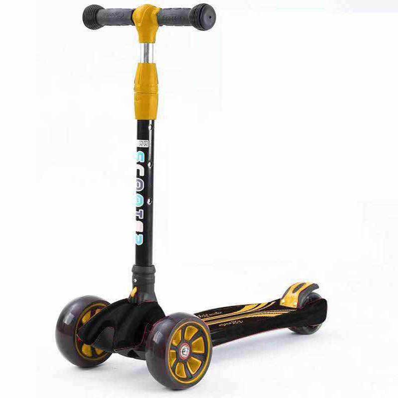 Anak Baru Skuter Anak Skuter Diterangi Roda Sepeda Roda Tiga untuk Anak-anak dari 3 Tahun Hadiah