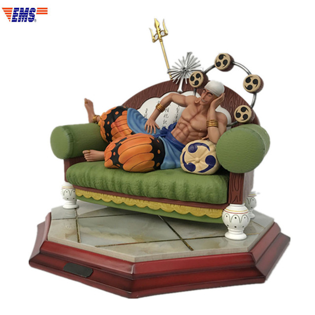 Anime ONE PIECE Ray God Enel Sitting Posture Resin Statue Action Figure Collection Model Toy X373