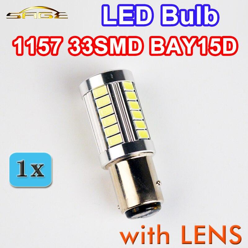 flytop 1157 33SMD светодиодные лампы с линзой BAY15D 5630 6000K супер яркий авто Лампа 12В 4ВТ свет тормоза автомобиля