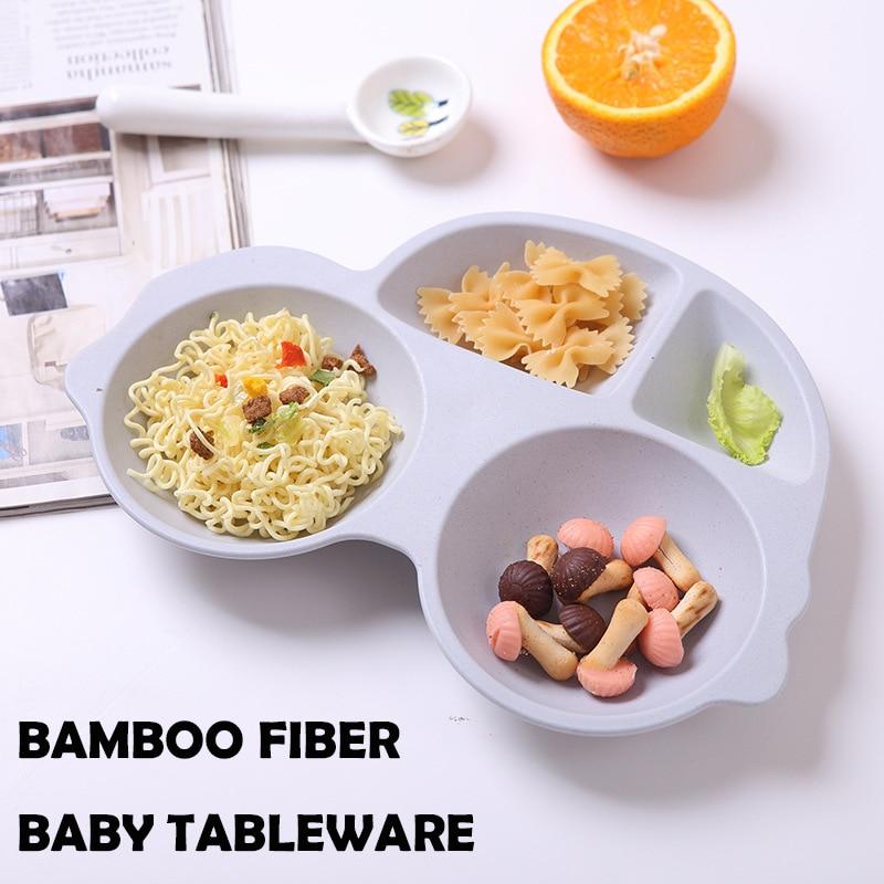 GZZT Baby Plate Blue Bamboo Fiber