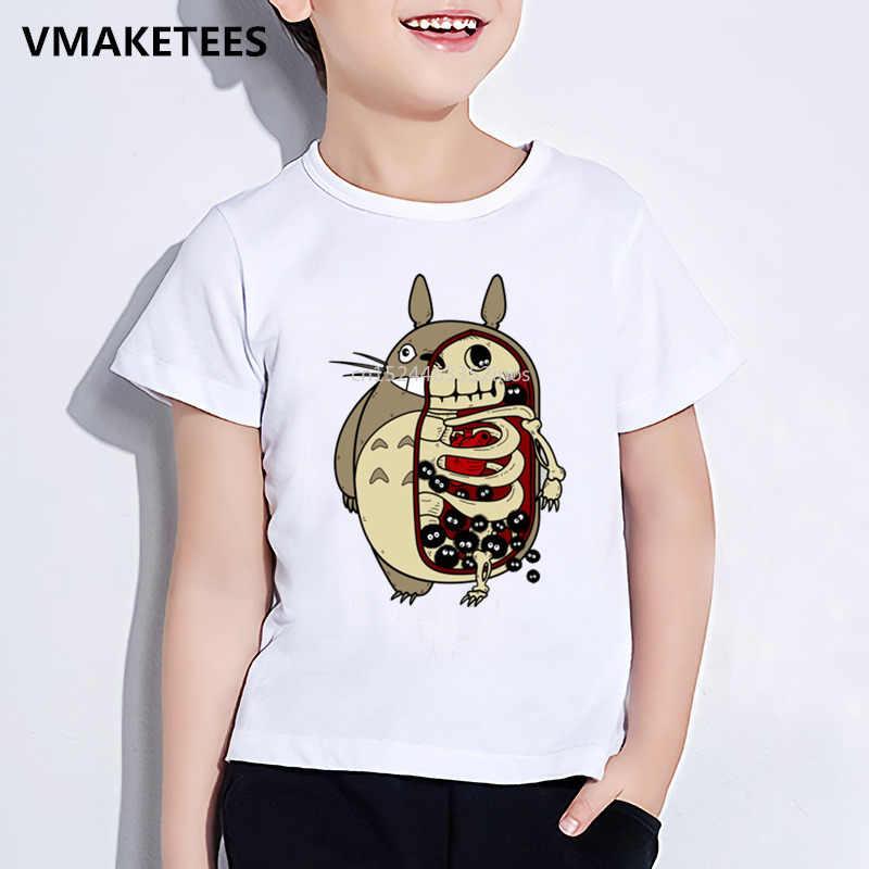Crianças Verão de Manga Curta Das Meninas & Meninos T shirt Crianças Minions/Totoro/Jake T-shirt Cópia Do Crânio Dos Desenhos Animados Engraçado a Roupa do bebê, ooo2023