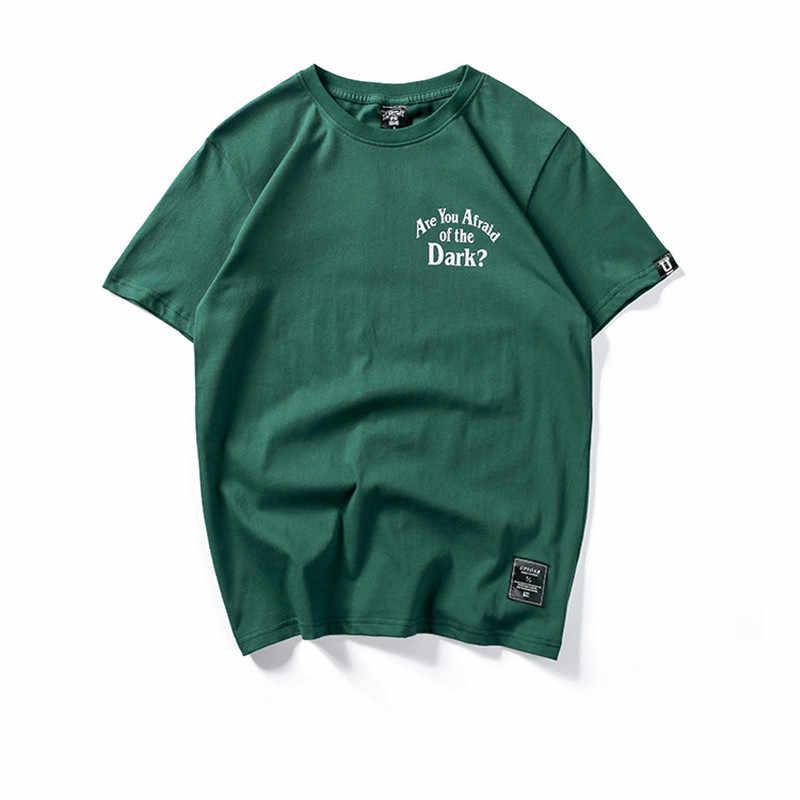 FOJAGANTO 브랜드 남성 티셔츠 새 편지 인쇄 남성 티셔츠 남성 스트리트 힙합 편안한 티 Top