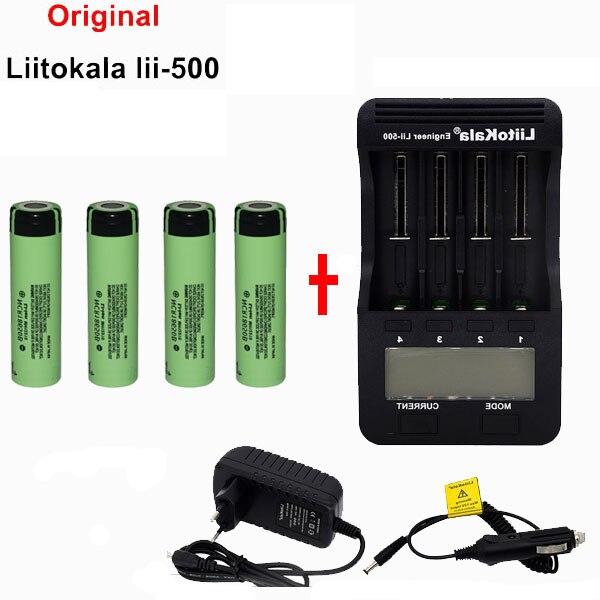 liitokala Original LCD 3.7V 1.2V 18500 26650 16340 14500 10440 18650 Battery charger + 4pcs panasonic 18650 Battery 3400mahliitokala Original LCD 3.7V 1.2V 18500 26650 16340 14500 10440 18650 Battery charger + 4pcs panasonic 18650 Battery 3400mah