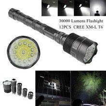30000Lumen Flashlight Torch Lamp 5 Modes 8-12 CREE XM-L LED T6 Light for Camping Lantern Hunting