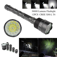 LED Flashlight 30000 Lumens Torch Lamp 5 Modes 8 12 CREE XM L LED T6 Light for Homehold&Outdoor Camping Lantern Hunting