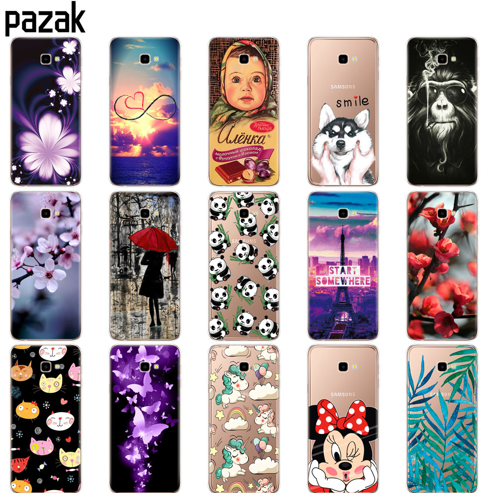 Beautiful For Coque Samsung Galaxy J4 Plus Case On For Samsung Galaxy J4 Prime J4plus 2018 Fundas Retro Flower Clear Soft Silicone Cover High Quality And Inexpensive Fitted Cases Cellphones & Telecommunications