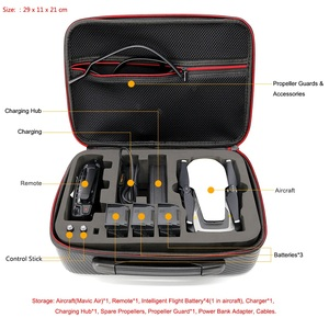 Image 3 - Mavic Air Waterproof Bag Handbag Portable Case PU Carbon Skin Storage Box Shoulder Bag For DJI MAVIC AIR