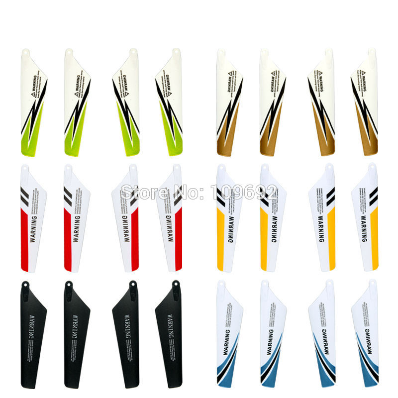 6 Colors SYMA S107 S107C S107G S108G S109G Main Blades Propeller 3.5CH Mini RC Helicopter Spare Parts Accessories цена