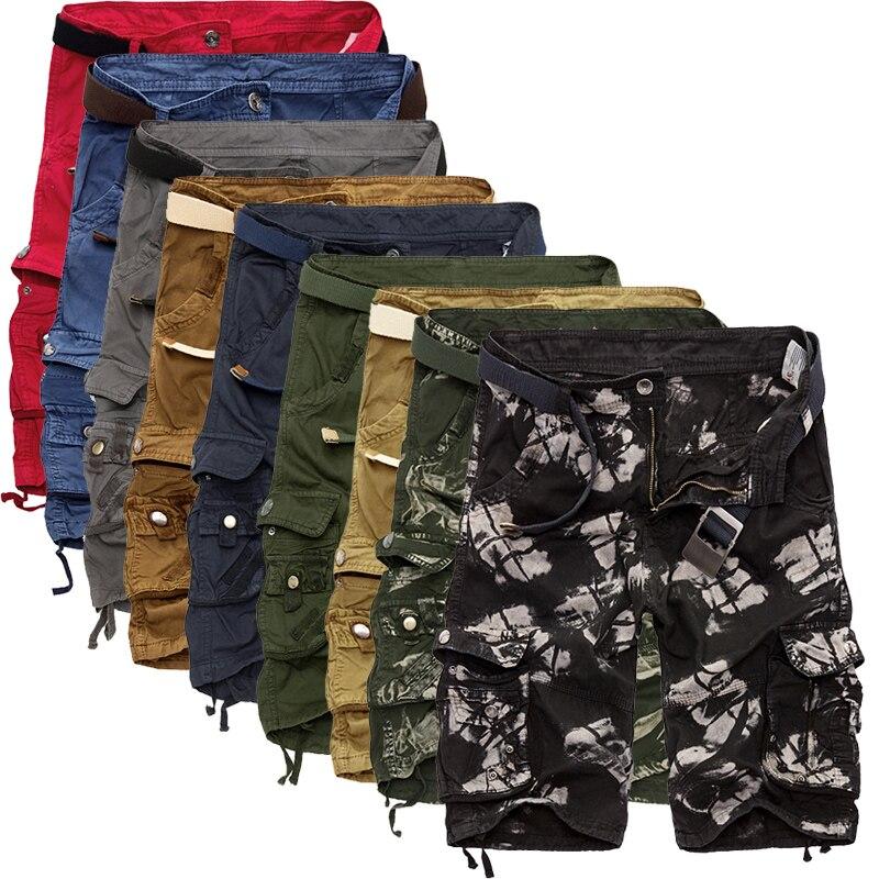 Militär Last Shorts Män Sommar Camouflage Ren Cotton Brand Kläder - Herrkläder - Foto 2