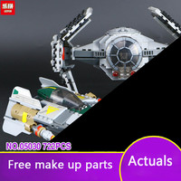 722Pcs LEPIN 05030 Star Vader Tie Advanced VS A Starfighter Wings 75150 Building Blocks Compatible Brithday