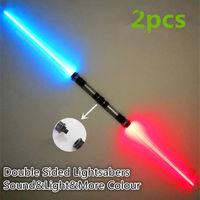 2PCS Lightsaber Boy Gril Toys Flashing Sword Cosplay Funny Star Wars Laser Sword Luminous Music Children