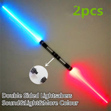 2PCS Lightsaber Boy Gril Toys Flashing Sword Cosplay Funny Star Wars Laser Sword Music Luminous Children's Creative Gift Outdoor