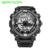 2017 SANDA Moda Assista Men Hour LED À Prova D' Água Esportes Relógio Militar Analógico Quartz Digital Watch Relogio masculino Dos Homens de Choque